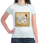 Gold Framed Rooster Jr. Ringer T-Shirt