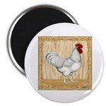 """Gold Framed Rooster 2.25"""" Magnet (100 pack)"""