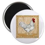 """Gold Framed Rooster 2.25"""" Magnet (10 pack)"""