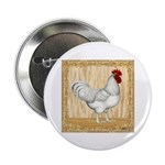 "Gold Framed Rooster 2.25"" Button (10 pack)"