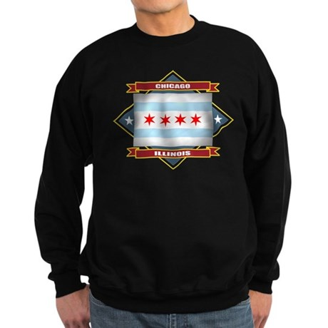 Chicago Flag Sweatshirt (dark)