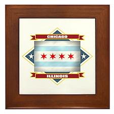 Chicago Flag Framed Tile
