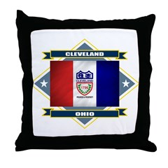 Cleveland Flag Throw Pillow