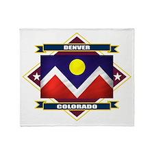 Denver Flag Throw Blanket