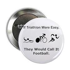 "Traithlon Football 2.25"" Button (10 pack)"