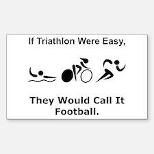 Traithlon Football Decal