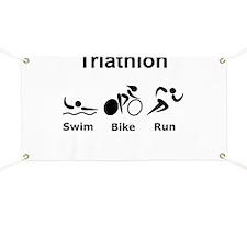 Triathlon Swim Bike Run Banner