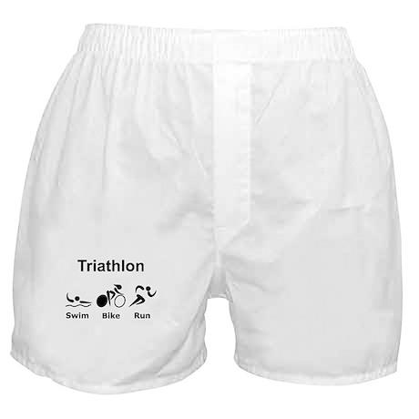 Triathlon Swim Bike Run Boxer Shorts