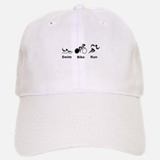Swim Bike Run Baseball Baseball Cap
