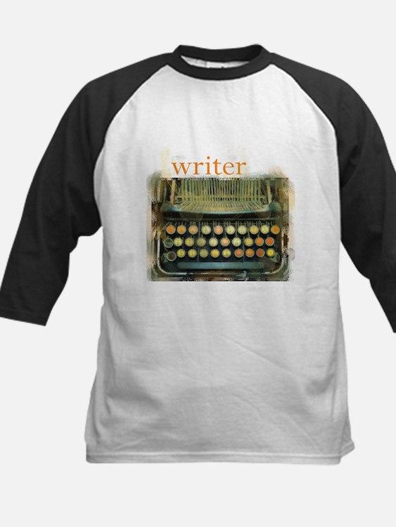 typewriter writer Kids Baseball Jersey