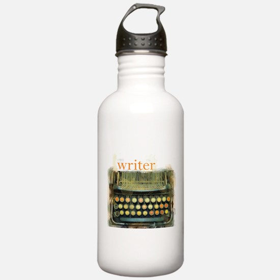 typewriter writer Water Bottle