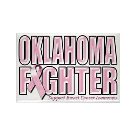 Oklahoma Breast Cancer Fighter Rectangle Magnet