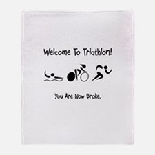 Welcome To Triathlon! Throw Blanket