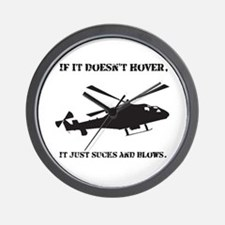 Helicopter Hover Wall Clock