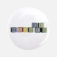 "Michelle Alphabet Block 3.5"" Button"