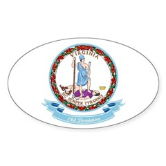 Virginia Seal Sticker (Oval 10 pk)