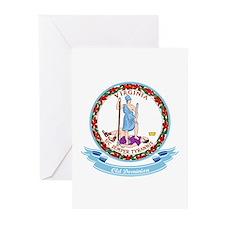 Virginia Seal Greeting Cards (Pk of 10)
