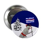 Krampus for Obama campaign button