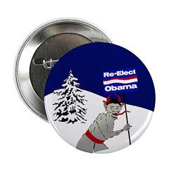 Krampus for Obama campaign button