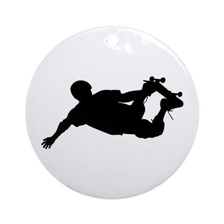 Extreme Skateboarding Ornament (Round)
