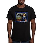 Boy Blue Apples Men's Fitted T-Shirt (dark)