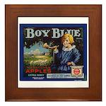 Boy Blue Apples Framed Tile