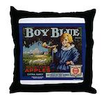 Boy Blue Apples Throw Pillow