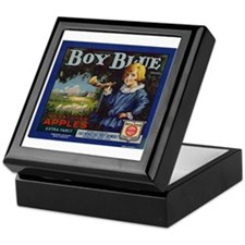 Boy Blue Apples Keepsake Box
