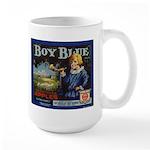 Boy Blue Apples Large Mug