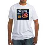 Ruby Apples Fitted T-Shirt