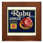 Ruby Apples Framed Tile