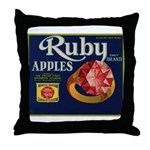 Ruby Apples Throw Pillow
