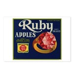 Ruby Apples Postcards (Package of 8)