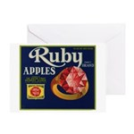 Ruby Apples Greeting Card