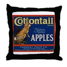 Cottontail Apples Throw Pillow