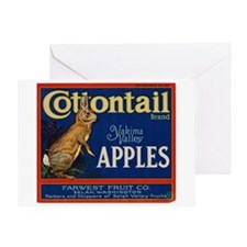 Cottontail Apples Greeting Card