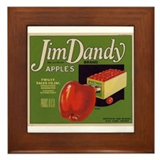 Jim Dandy Apples Framed Tile