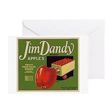 Jim Dandy Apples Greeting Card
