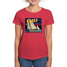 Sails Brand Northeast Apples Women's Dark T-Shirt