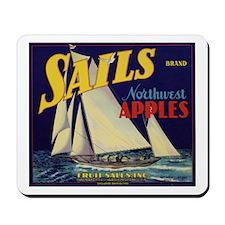 Sails Brand Northeast Apples Mousepad