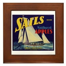 Sails Brand Northeast Apples Framed Tile