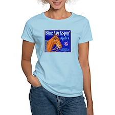 Blue Larkspur Apples Women's Light T-Shirt