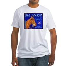 Blue Larkspur Apples Fitted T-Shirt
