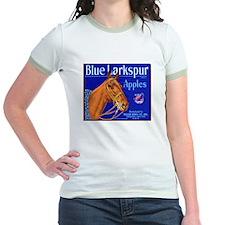 Blue Larkspur Apples Jr. Ringer T-Shirt