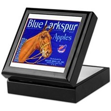 Blue Larkspur Apples Keepsake Box