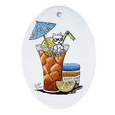 West Highland Iced Tea Ornament (Oval)