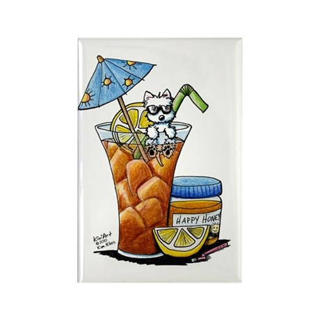 West Highland Iced Tea Rectangle Magnet (100 pack)