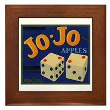 Jo-Jo Apples Framed Tile