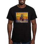 Buckaroo Apples Men's Fitted T-Shirt (dark)