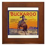Buckaroo Apples Framed Tile